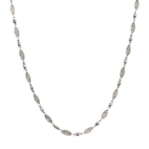 """Picture of Silver Natalie Chain: 16-19"""""""